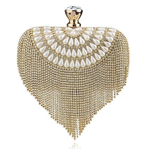 Flada, Poschette giorno donna oro Gold medium