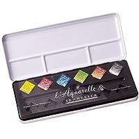 Sennelier l'Aquarelle French Artists' Watercolor Metal Case Set of 6 Half Pans
