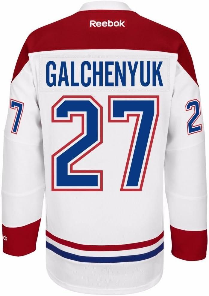 Reebok Alex Galchenyuk Montreal Canadiens NHL Men's White Name & Number Player #27 Jersey 61rwaSD9KyL