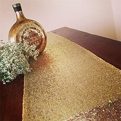 Koyal Sequin Table Runner, 13 by 108-Inch
