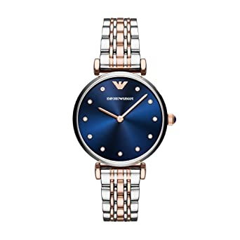 742565933dd9 Amazon.com  Emporio Armani Women s Dress Quartz Watch with Stainless ...