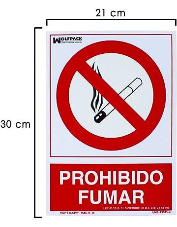 Wolfpack 15051275 Cartel Prohibido Fumar 30x21