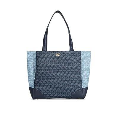 13033c94dcc7 Amazon.com: Michael Kors Gala Medium Logo Tote- Admiral/Pale Blue: Shoes
