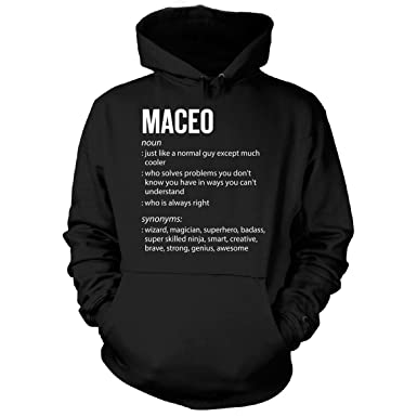 3fe9e99fd2d0 Inked Creatively Maceo Name Meaning Xmas Birthday Gift - Hoodie at Amazon Men's  Clothing store: