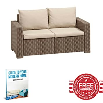 Ratán sofá de esquina Cojines Sofá al aire libre muebles de ...