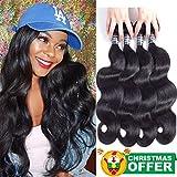 Amella Hair Brazilian Body Wave (16' 18' 20' 22', 400g, Natural...
