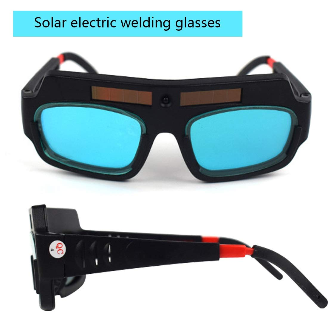 YUANYUAN521 Solar Powered Auto Darkening Welding Mask Helmet Goggle Welder Glasses Arc Lens Great Goggles for Welding Protection by YUANYUAN521