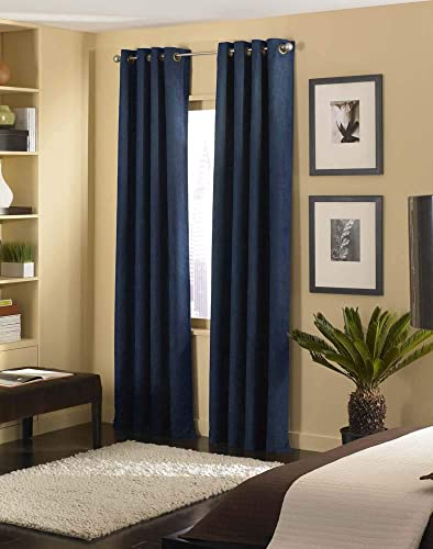 Curtainworks Cameron Grommet Curtain Panel, 50 by 144 , Navy