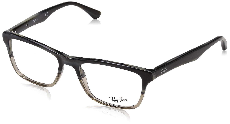 f6040242e1 Amazon.com  Ray-Ban RX5356-5767 Eyeglasses Brown 52mm  Clothing