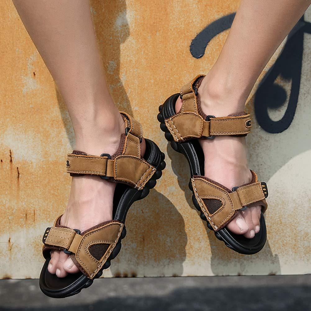 Scarpet Uomo Mens Atletico Sandali allaperto Open Toe Velcro Escursionismo Sandali Estivi Traspiranti Beach Leather Shoes