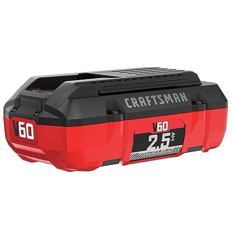 Amazon.com: CRAFTSMAN CMCB6025 V60 2,5 AH Batería de iones ...