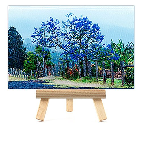 Maui Jacaranda Tree,   with Easel, Rustic Country Decor