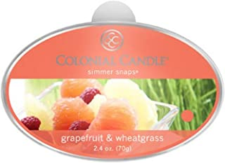 product image for Colonial Candle Grapefruit and Wheatgrass Simmer Snaps