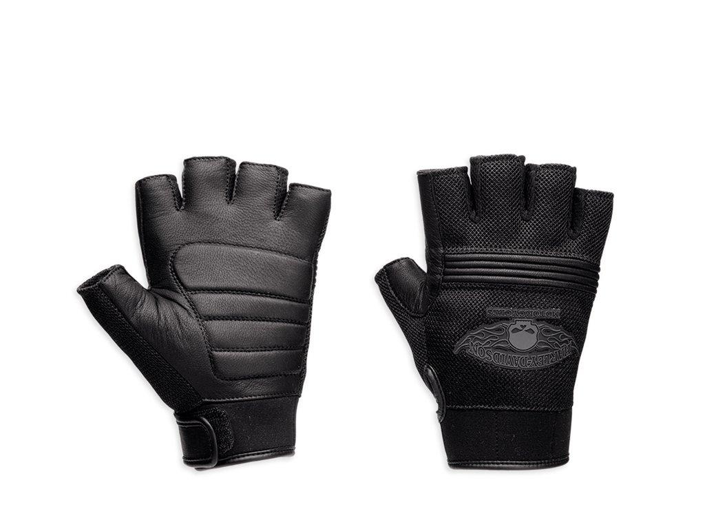 Harley-Davidson Winged Skull Fingerless Handschuhe, 98277-14VM, M