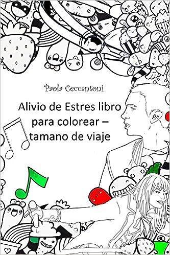 Amazon.com: Alivio de Estres libro para colorear - tamano de via ...