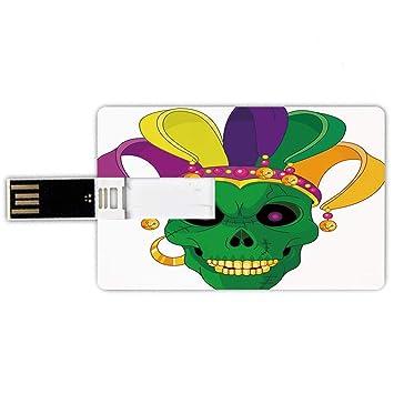 8GB Forma de tarjeta de crédito de unidades flash USB Mardi Gras ...