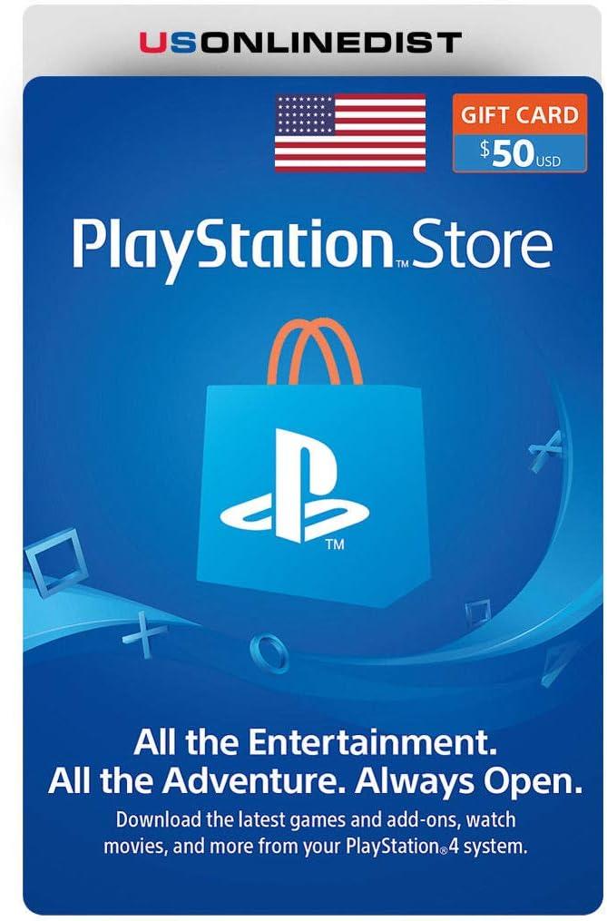 Sony Playstation Network - Tarjeta PSN 50 Dólar PS4 PS3 PSP USA: Amazon.es: Bricolaje y herramientas