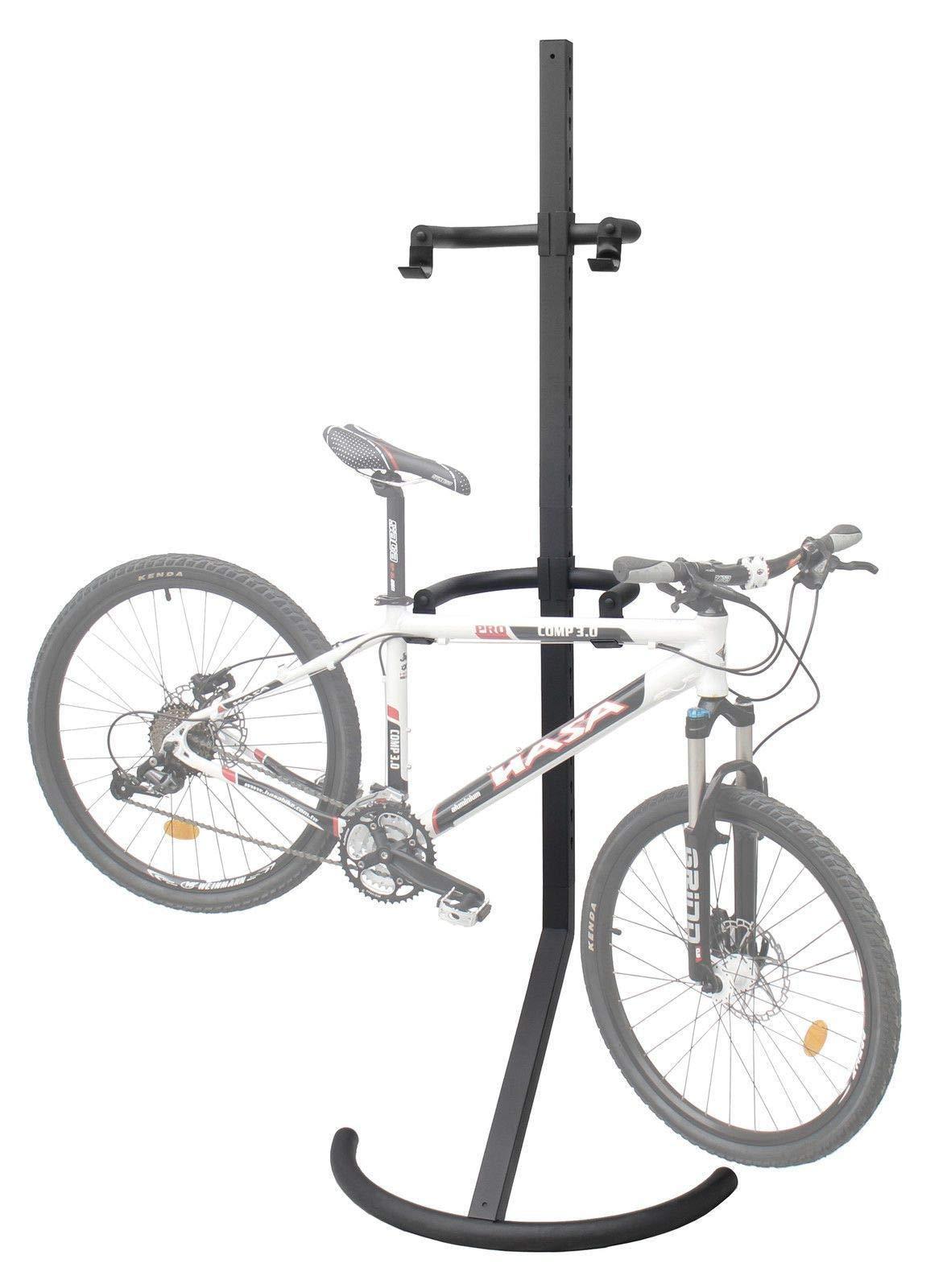CyclingDeal 2 Bike Bicycle Storage Floor Garage Parking Rack Stand leans Against Wall