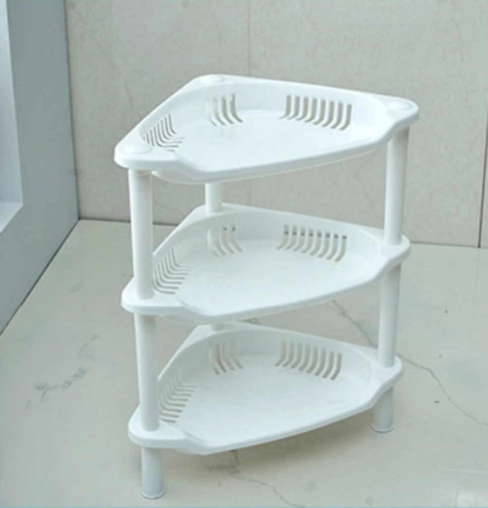 Highdas 3 Tier Bathroom Storage Rack Plastic Corner Shelf Caddy ...