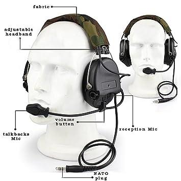 Tiro con auriculares, táctico COMTAC auriculares de diadema ...