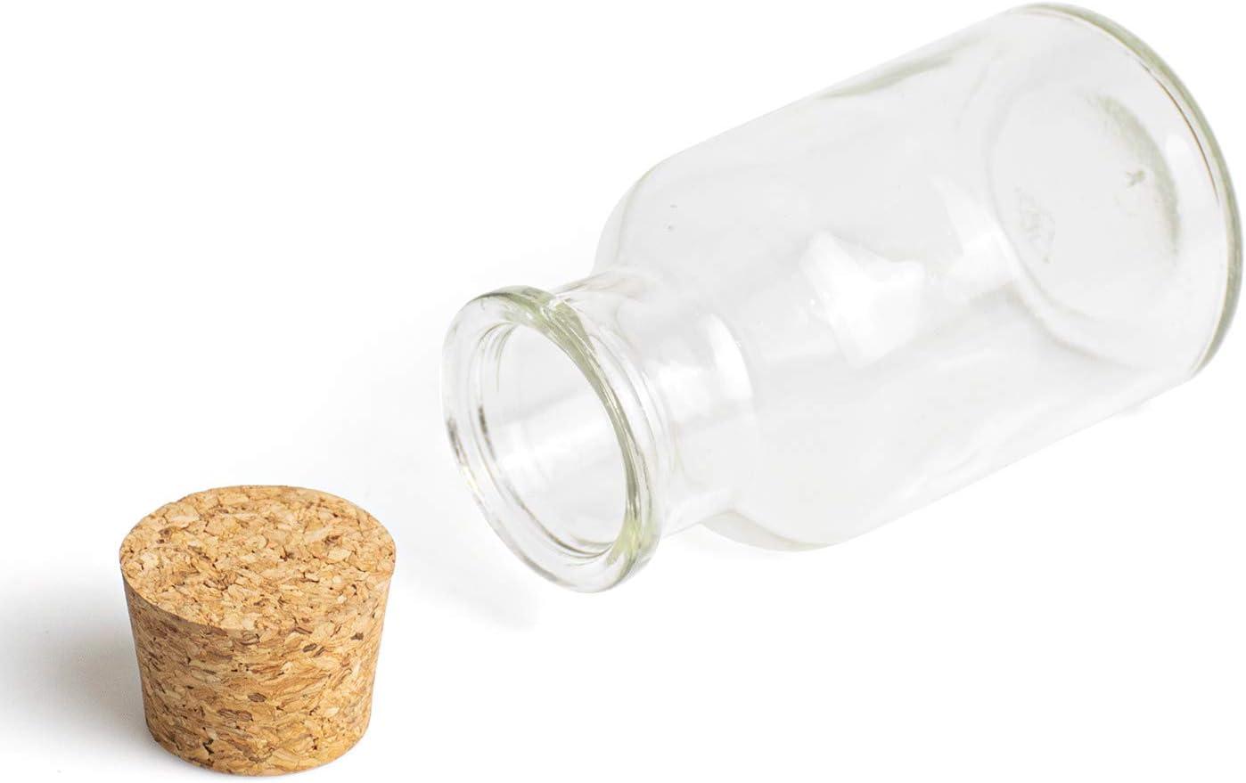 Tebery 150 ml tarros de especias con tapas de corcho set de especias - Almacenamiento de cocina Juego de cocina de 16 piezas almacenamiento de especias peque/ños tarros de cristal