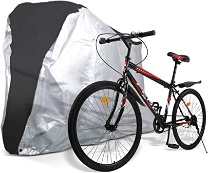 Waterproof Bicycle Bike Storage Cover Rain Dust Sun Protection Outdoor Silver US