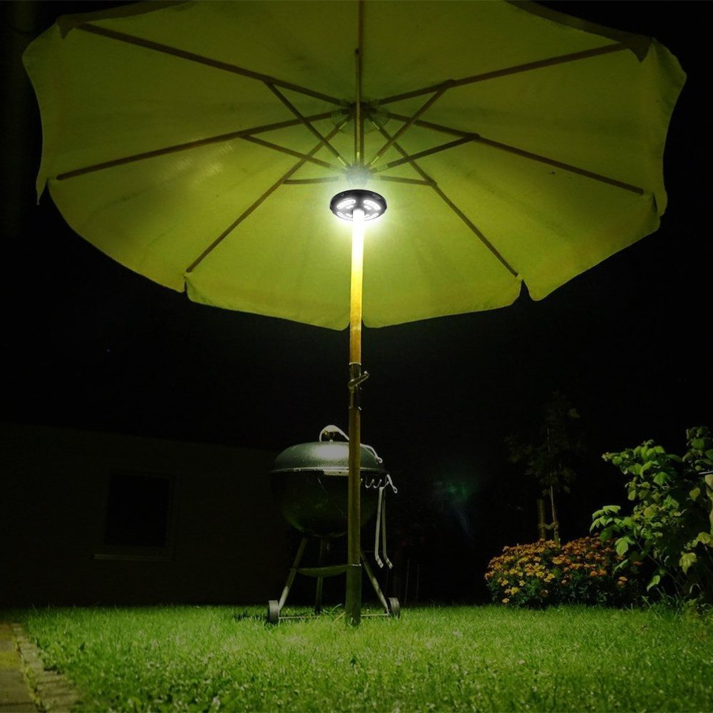 Hallomall Patio Umbrella Light 28 LED Rechargeable Umbrella Pole Lamp with 2 Dimming Level for Patio Umbrellas, Camping Tents and Other Outdoor Use by Hallomall