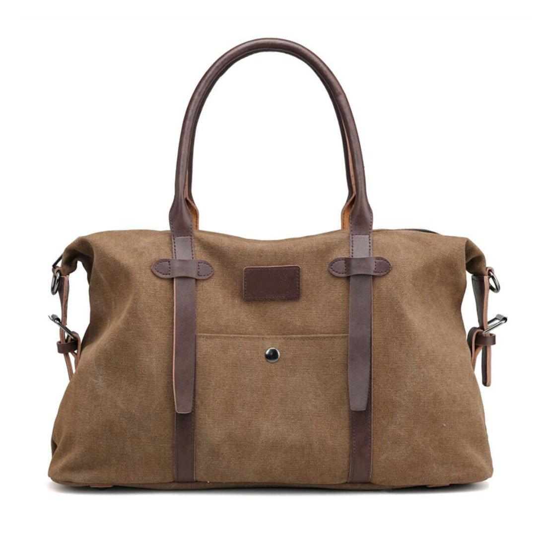 MUZI New Canvas Shoulder Portable Messenger Bag Width Thick High Portable 50 7 37 20CM Gray Black Brown Fashion Large Capacity Commuter Casual Wear Bag
