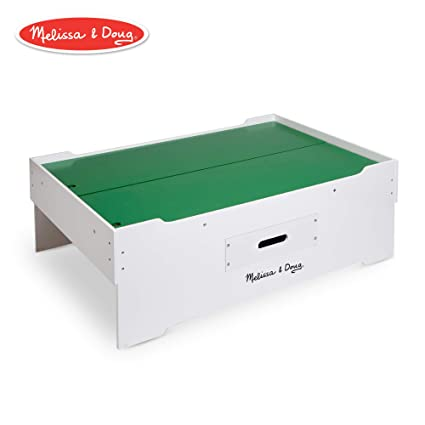 Melissa Doug Deluxe Wooden Multi Activity Play Table For Trains Puzzles Games Jumbo Drawer For Storage 4064 Cm H X 8255 Cm W X 127 Cm L