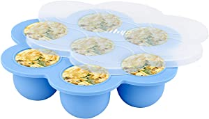 Hhyn Silicone Egg Bites Molds for Instant Pot Accessories - Fits for Instant Pot 5, 6, 8 qt Pressure Cooker, Reusable Baby Food Storage Container and Freezer Tray with Lid Sous Vide Egg Poacher