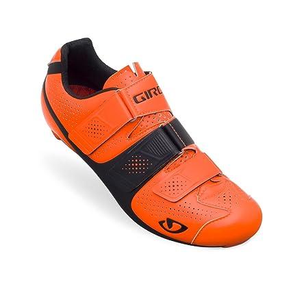 Giro - Zapatillas de Ciclismo para Hombre Blanco Blanco Naranja y Negro Talla:46,