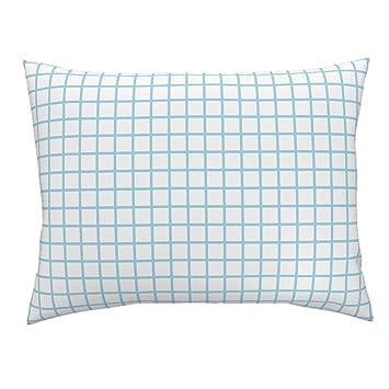 grid graph paper grids blue grid simple grid euro knife edge pillow sham grid white
