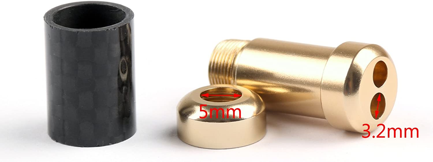 Areyourshop 10x HiFi Carbon Fiber Pants Boot Y Splitter 1 to 2 Speaker RCA Cable Audio Wire Gold