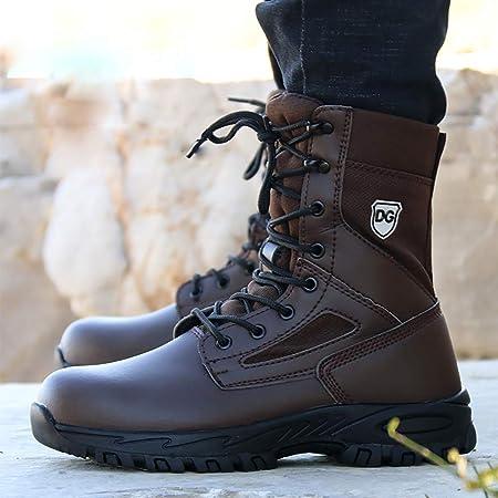 Zapatos de seguridad Botas de combate de acero puntera de ...