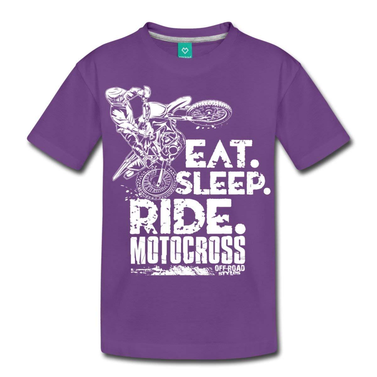 Motocross Eat Sleep Ride Mx Premium T Shirt 3605