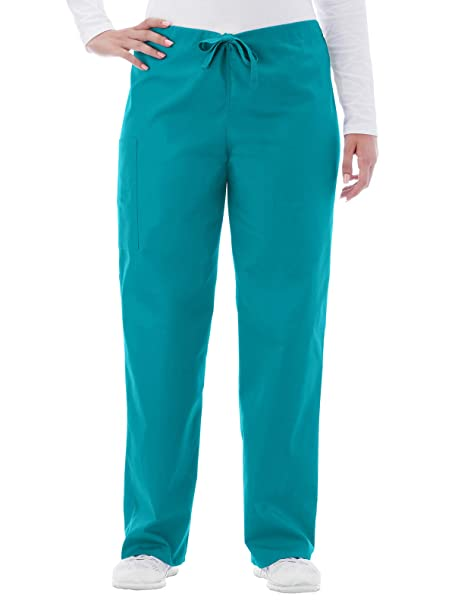 3a33c96e749 Amazon.com: White Swan Fundamentals 14920 Unisex Drawstring Scrub Pant Teal  L: Clothing