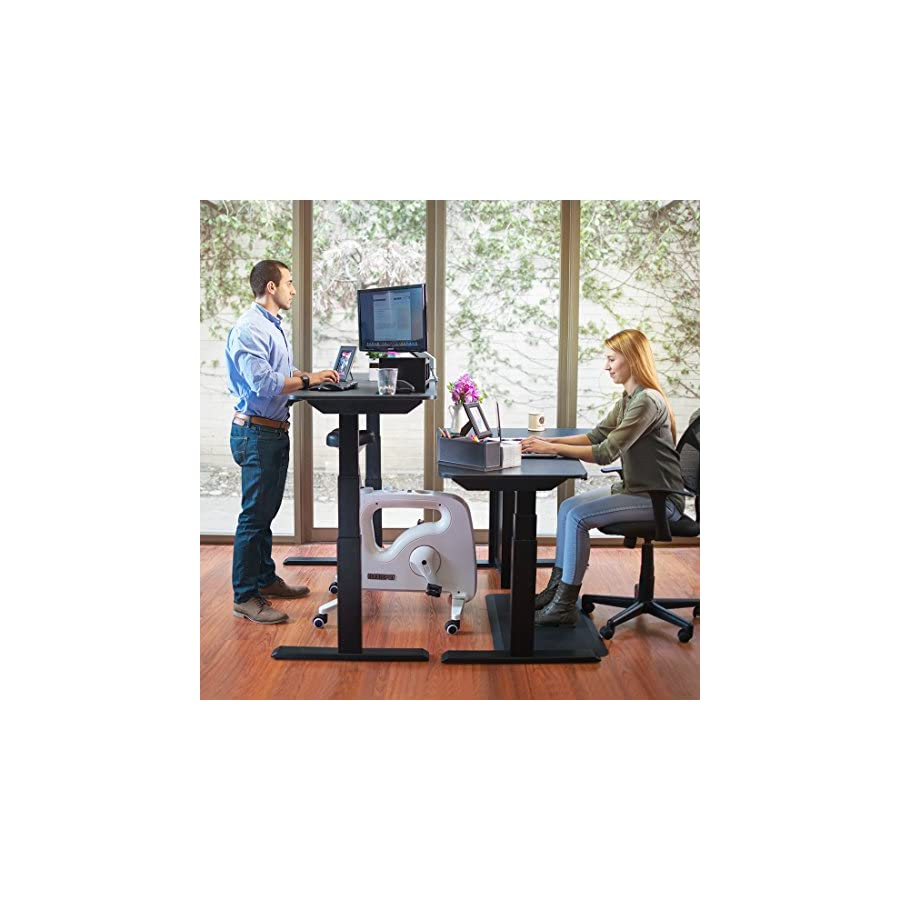 FLEXISPOT Home Office Standing Desk Exercise Bike Height Adjustable Cycle Deskcise Pro