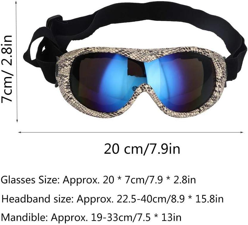 Serpiente Gafas de Sol de protecci/ón UV para Perros Gafas de Sol para Perros Protecci/ón contra Rayos UV a Prueba de Viento Gafas de Sol para Esquiar para Mascotas Nieve para Perros Protecci/ón
