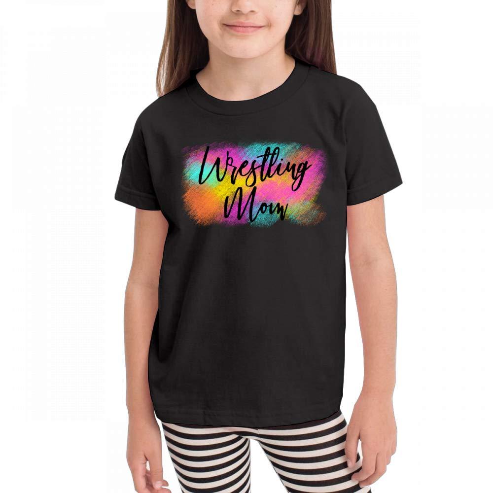 Antonia Bellamy Cool Wrestling Mom Children Short Sleeve Crew Neck Graphic Tees Tops