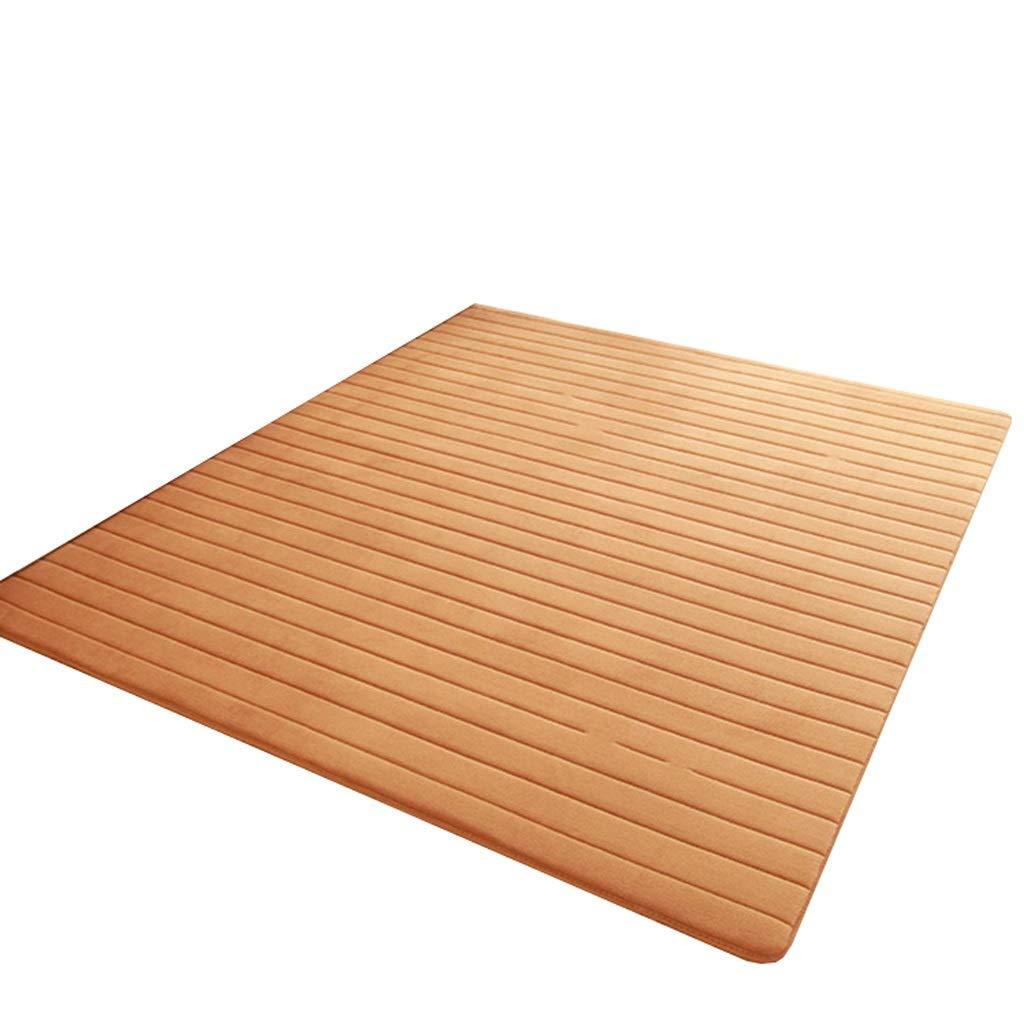 marron 80120cm LYQZ Tapis épais de Plancher de Salon de Table Basse de Tapis de Couloir de Tapis de Balcon de Tatami Mignon Fait sur Comhommede (Couleur   Vert, Taille   80  250cm)