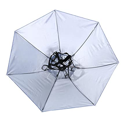 e6ccdbb51a2ce kingromargo Foldable Head Umbrella Hat Anti-Rain Fishing Sun Shade Parasol  Cap (Blue)  Amazon.co.uk  Kitchen   Home