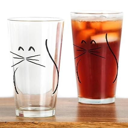 ba459ddfe3e6 Amazon.com: CafePress Kitty Cat Pint Glass, 16 oz. Drinking Glass: Kitchen  & Dining