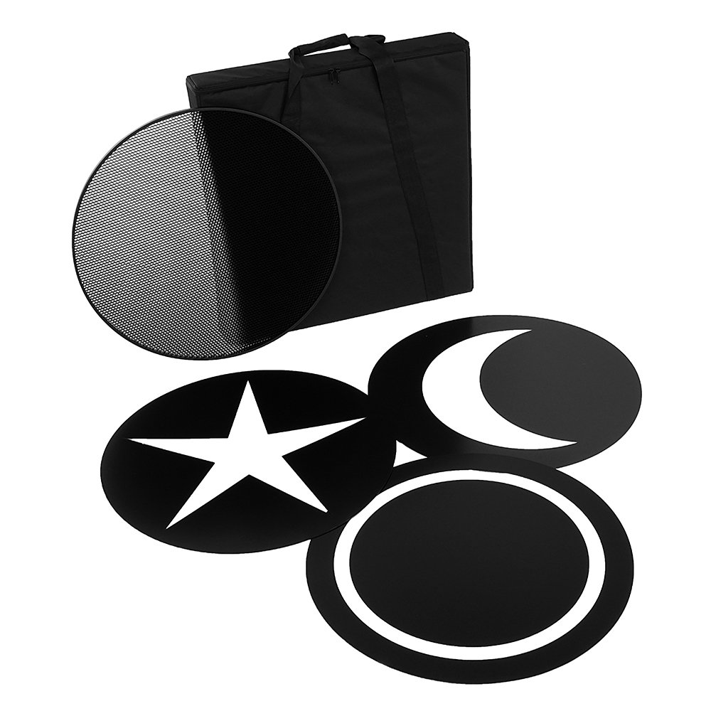 Fotodiox Pro FACTOR Jupitor24 Accessory Pack - Grid, 3x Creative Masks and Carrying Case FACTOR Jupiter24 VR-48500ASVL Studio Light by Fotodiox