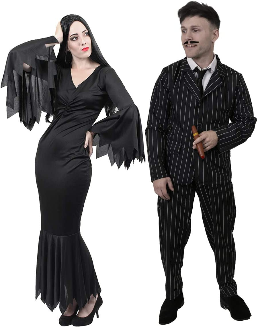 Addams Family Costume Set for Couples - Gomez and Morticia.