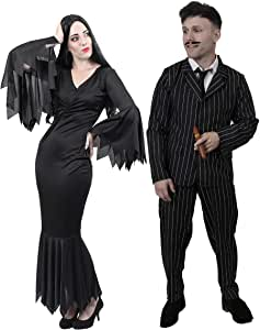 Disfraz para pareja de Familia Adams para adulto (talla XS - XXL ...