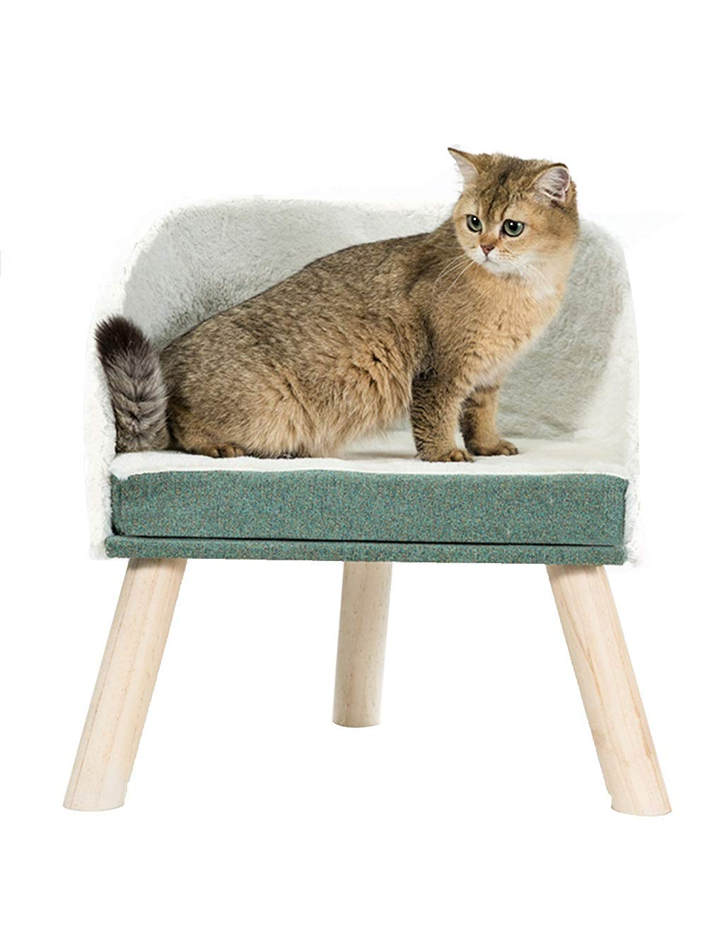 B Cat Tree House Climbing Ladder Stable Construction & Soft Fur, Cat Tower Furniture for Kittens, Cats and Pets, 3 Style (color   B)