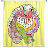 DiaNoche Designs WCU-MarleyUngaroBunnyPastelYellow2 Unlined Window Curtains, 40W x 61H in Review