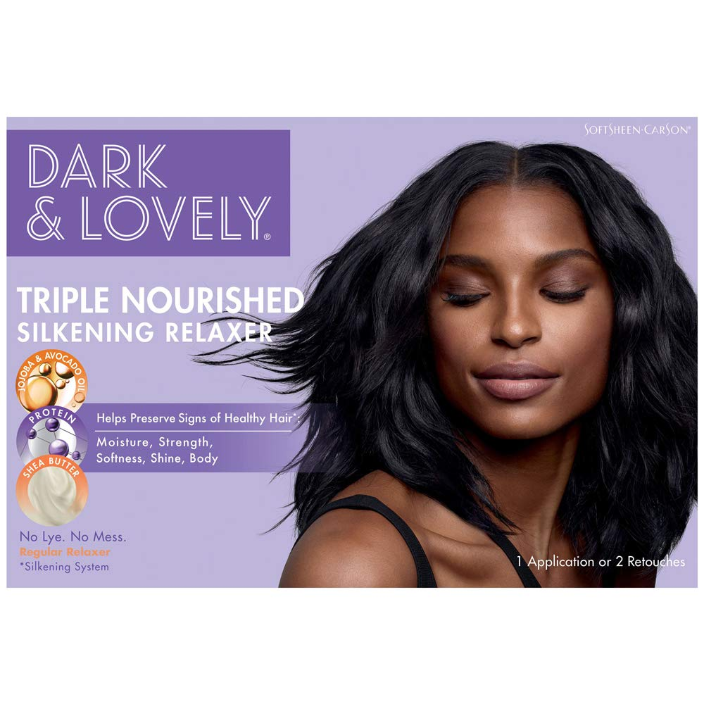 SoftSheen-Carson Dark and Lovely Healthy-Gloss 5 Shea Moisture No-Lye Relaxer Regular, Kit