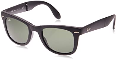 Amazon.com: Ray-Ban RB4105 Folding Wayfarer anteojos de sol ...