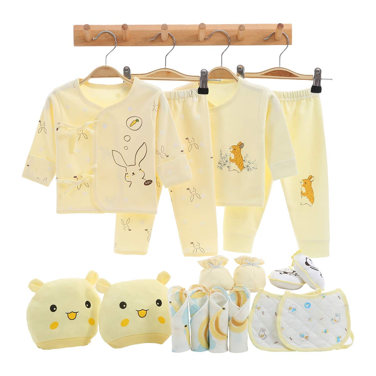 Newborn Girl Boy Clothes Baby Gifts Coming Home Outfits Essentials Stuff Yellow 0-3 Months by Smgslib